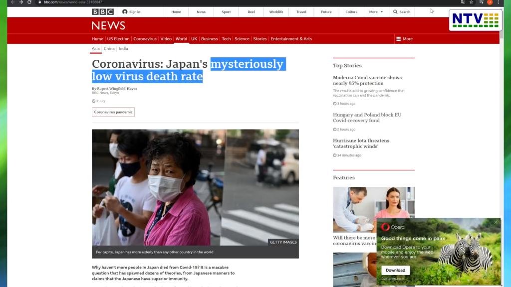 BBC Japonia – Tajemniczo niski wskaźnik śmiertelności covid19.  Społeczność wodorowa