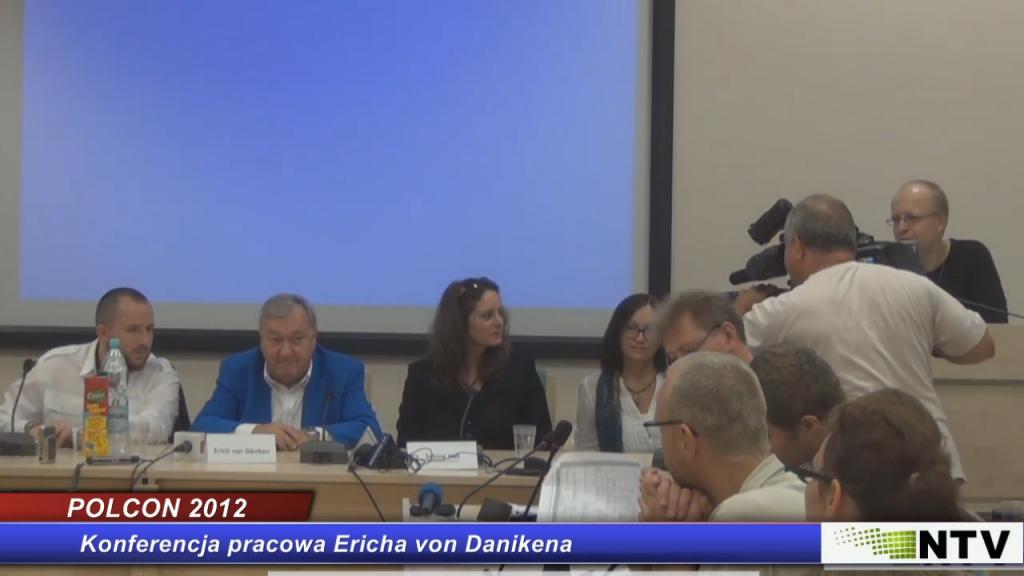 Erich von Daniken- Konferencja prasowa- POLCON 2012