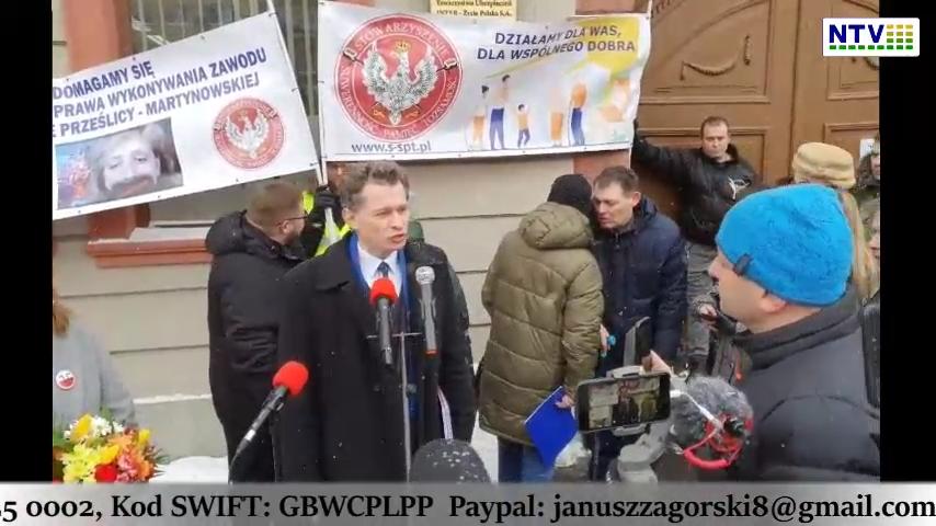 Konferencja Prasowa we Wrocławiu – dr Anna Martynowska