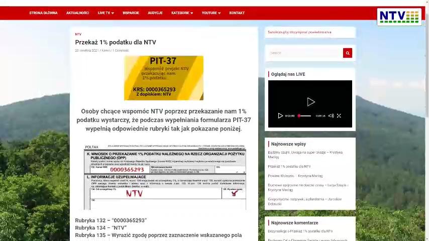 A jednak możesz przekazać 1 na NTV