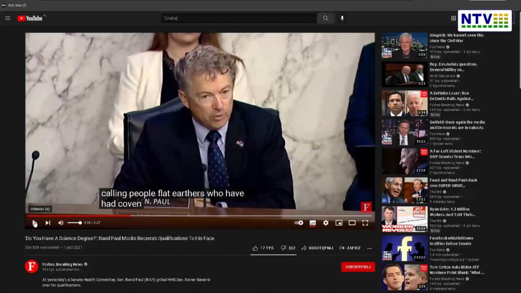 Senator z USA żąda przeprosin za niezgodność z nauką i obrażanie ludzi w sprawie c19